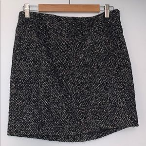 Black and white wool skirt